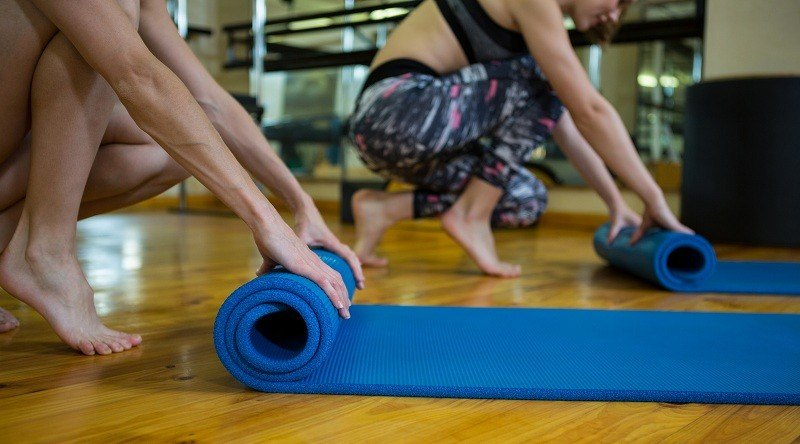 Fitness Workouts on Exercise Mats