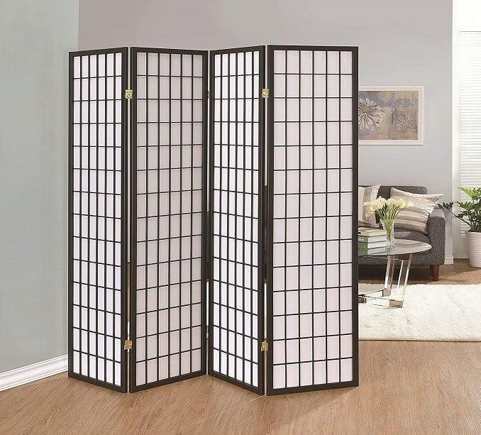 Furnishings Oriental Shoji 4 Panel Folding Privacy Screen Room