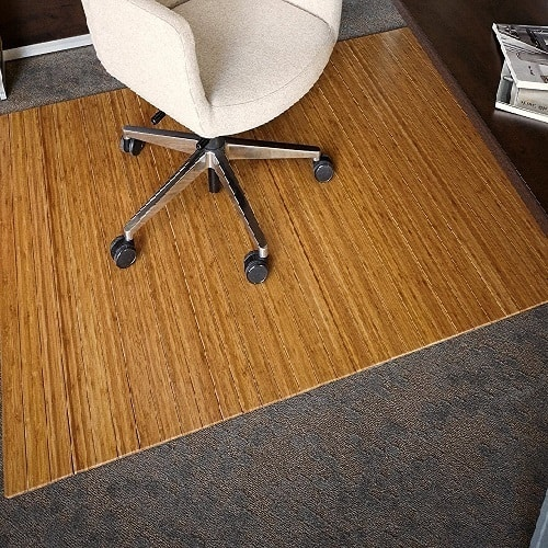 Anji Mountain Roll-Up Bamboo Chair Mat without Lip