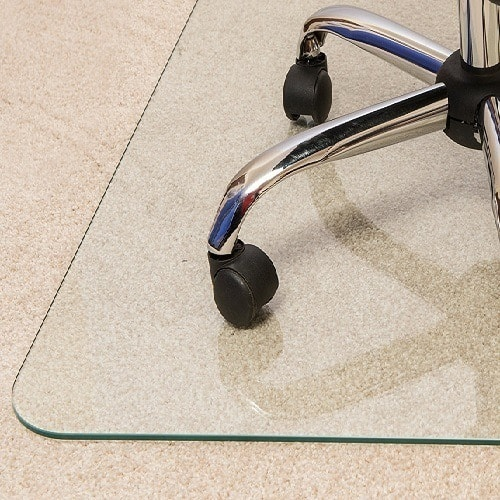 Glaciermat Chair Mat for Hard Floors/Carpets with Reinforced Glass