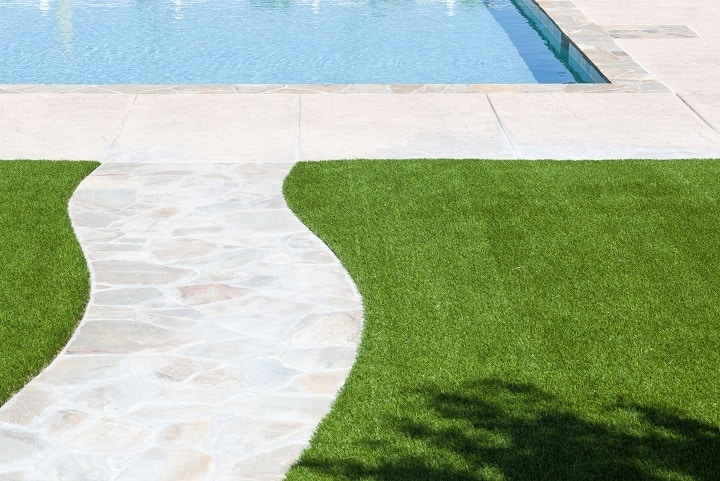 Artificial Grass Mat Poolside