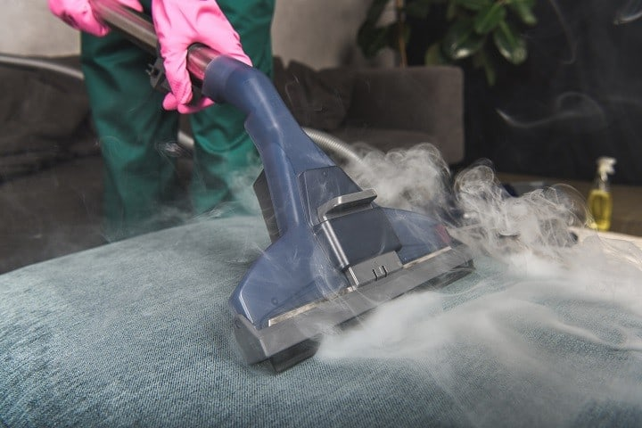 How do I steam clean my sofa
