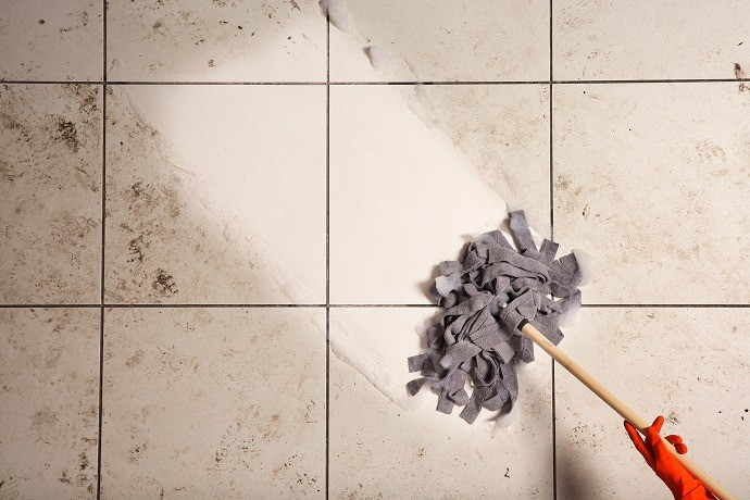 Tile Mop vs Hard Stains